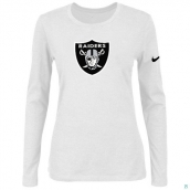 Nike Oakland Raiders Women's Of The City Long Sleeve TriBlend TShirt White