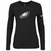 Nike Philadelphia Eagles Women's Of The City Long Sleeve TriBlend TShirt Black