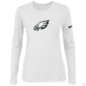 Nike Philadelphia Eagles Women's Of The City Long Sleeve TriBlend TShirt White