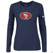 Nike San Francisco 49ers Women's Of The City Long Sleeve TriBlend TShirt D-Blue