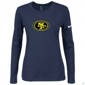 Nike San Francisco 49ers Women's Of The City Long Sleeve TriBlend TShirt D-Blue 2