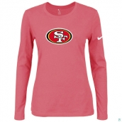 Nike San Francisco 49ers Women's Of The City Long Sleeve TriBlend TShirt Pink