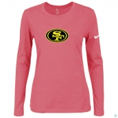 Nike San Francisco 49ers Women's Of The City Long Sleeve TriBlend TShirt Pink 2