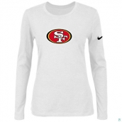 Nike San Francisco 49ers Women's Of The City Long Sleeve TriBlend TShirt White