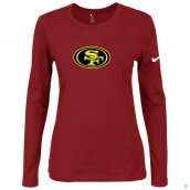 Nike San Francisco 49ers Women's Of The City Long Sleeve TriBlend TShirt Red 2