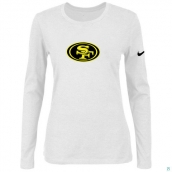 Nike San Francisco 49ers Women's Of The City Long Sleeve TriBlend TShirt White 2