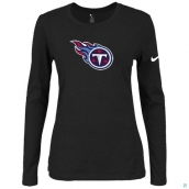 Nike Tennessee Titans Women's Of The City Long Sleeve TriBlend TShirt Black