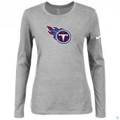 Nike Tennessee Titans Women's Of The City Long Sleeve TriBlend TShirt L-Grey
