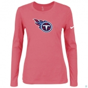 Nike Tennessee Titans Women's Of The City Long Sleeve TriBlend TShirt Pink