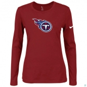 Nike Tennessee Titans Women's Of The City Long Sleeve TriBlend TShirt Red