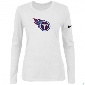 Nike Tennessee Titans Women's Of The City Long Sleeve TriBlend TShirt White