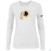 Nike Washington Red Skins Women's Of The City Long Sleeve TriBlend TShirt White