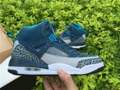 Super Perfect Nike Air Jordan 3-5 Spizike Blue Grey White 350