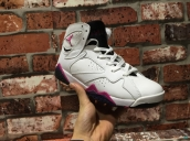 Perfect Air Jordan 7 Women White Pink Purple