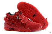 Air Trainer Cruz Shoes Suede Red October