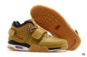 Air Trainer Cruz Shoes Leather Yellow Black