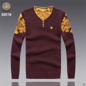 Versace Sweater Red Golden