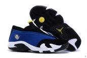 Air Jordan 14 Low AAA Women Blue Black White