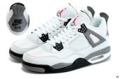 Air Jordan 4 AAA White Grey