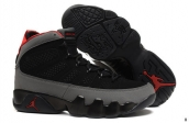Air Jordan 9 Women AAA Black Grey Red