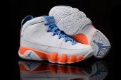 Air Jordan 9 Women AAA White Blue Orange