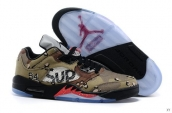 AAA Air Jordan 5 Low Supreme Camo
