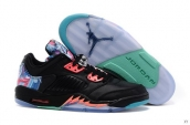 AAA Air Jordan 5 Low Kite Black Pink Blue