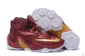 Nike Lebron 13 Women Wine Red Golden