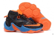 Nike Lebron 13 Women Black Orange Blue