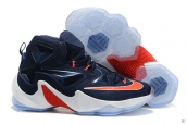 Nike Lebron 13 Women Navy Blue White Red