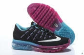 Air Max 2016 Women Black Blue Purple White