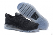 Nike Flyknit Air Max Black White Sole
