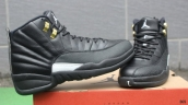 Super Perfect Air Jordan 12 The Master Black Golden