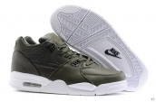 Air Flight 89 Leather Army Green White
