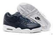 Air Flight 89 Leather Navy Blue White