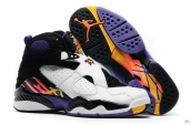 Air Jordan 8 Women White Black Purple