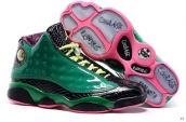 Super Perfect Air Jordan 13 Doernbecher Green Black Pink 500