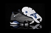 Air Jordan 14 Kids Grey Black Blue White