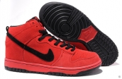 Nike Dunk High Women Red Black