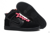 Nike Dunk High Women Black Pink