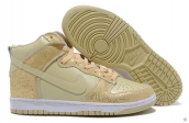 Nike Dunk High Women Golden White