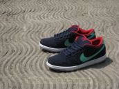 Nike Dunk Low Navy Blue Green Red