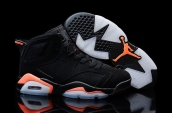 AAA Air Jordan 6 Women Black Orange