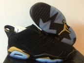 AAA Air Jordan 6 Low Women Black Golden