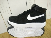 Nike Air Force 1 Flyknit High Women Black White