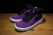Nike Air Force 1 Flyknit High Women Purple Black White