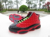 Super Perfect Air Jordan 13 Doernbecher Red Black Green
