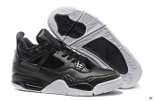 Air Jordan 4 Leather Horse Hair Black White