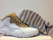 AAA Air Jordan 10 White Golden