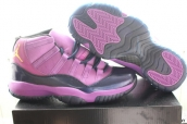 AAA Air Jordan 11 Purple Black Golden